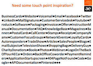 AE touch point inspiration