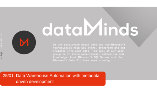 http://www.dataminds.be/events/data-warehouse-automation-with-metadata-driven-development