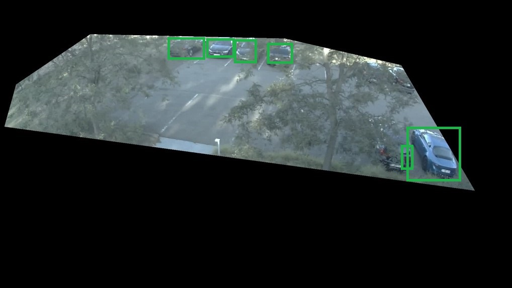 Car Detection on Image from Camera 1