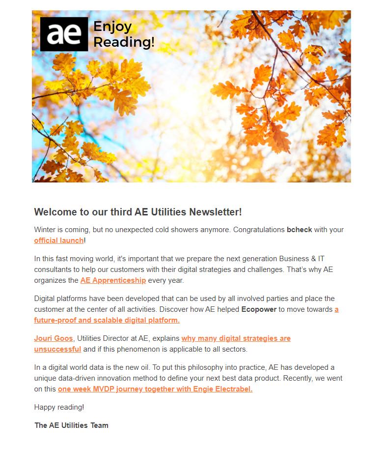 Utilities Nieuwsbrief Oktober